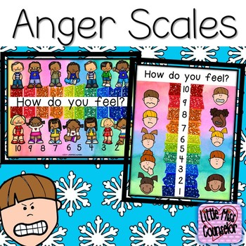 Anger Scale Posters Set {elementary school counseling}