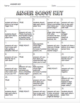 Anger Scoot & Task Cards