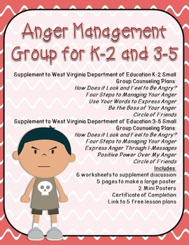 Anger Small Group: Supplement for WV Counseling Curriculum