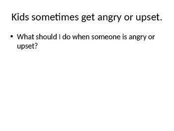 Anger Social Skills Powerpoint