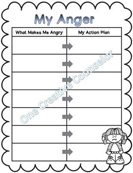 Anger Worksheet Printable