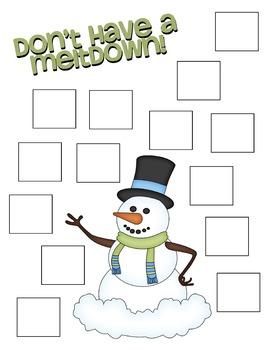 Snowman Coping Skills Activity