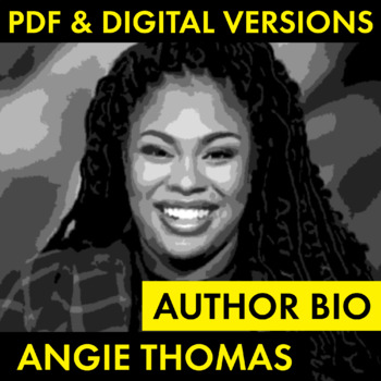Angie Thomas Author Study for The Hate U Give, Easy Biography Activity, CCSS