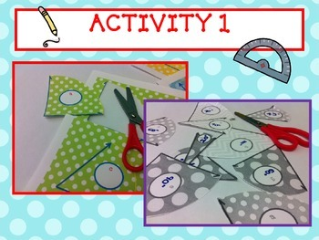 Measure and Add Angles using a Protractor- FUN Hands-On Geometry Activity CCSS