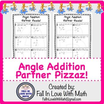 Angle Addition Partner Pizzaz!