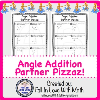 Angle Addition Partner Pizzaz!
