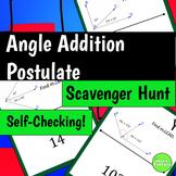 Angle Addition Postulate Scavenger Hunt Activity