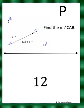 Angle Addition Postulate Scavenger Hunt Activity