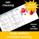 Angle Addition Postulate *Google Classroom* Distance Learning