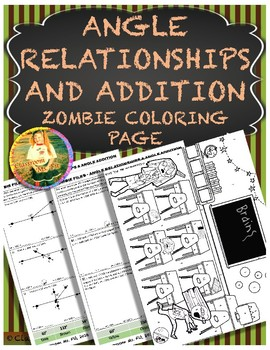 Angle Addition & Relationships ~ Zombie Coloring Page