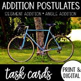 Angle & Segment Addition Postulate Task Cards with Google
