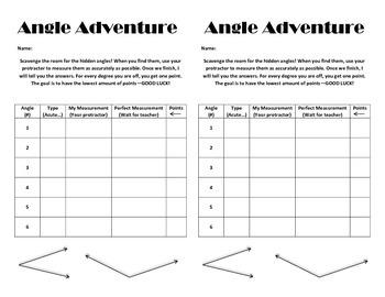 Angle Adventure: A Protractor Activity
