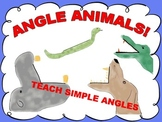 Angle Animals-Teach Simple Angles, 16 FILES!