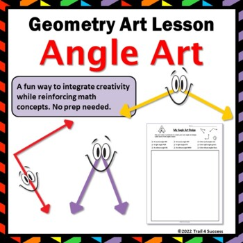 Angle Art Three Types Of Angles Fun Geometry Design Activity TpT