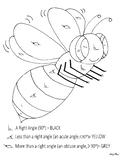 Angle Bee Coloring Sheet