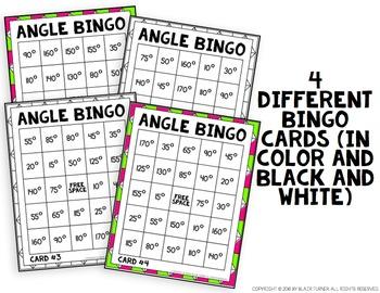 Angle Bingo: 4th Grade Math Centers 4.MD.5