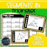 Segments in Triangles Task Cards | Bisectors | Medians | A