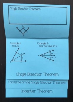 Angle Bisectors within Triangles (Geometry Foldable)