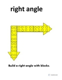 Angle Building with Blocks:Right, Obtuse,and Acute /Flashcards for Autism