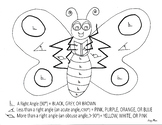 Angle Butterfly Coloring Sheet