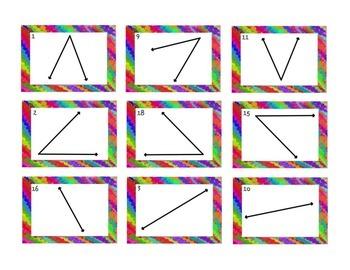 Angle Card Sort - 45 degrees, 90 degrees, 180 degrees