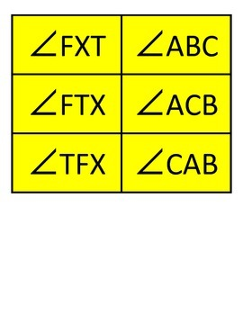 Angle Card Sort (Measuring - Naming - Complements - Supplements)