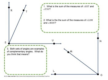 Angle Centers and Review, Complementary, Supplementary, Vertical Angles