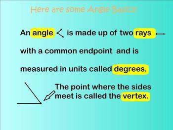 Angle Classifications Smartboard Lesson - Common Core Aligned