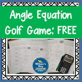 Angle Relationships Equations Golf Game Free