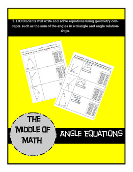 Angle Equations Practice