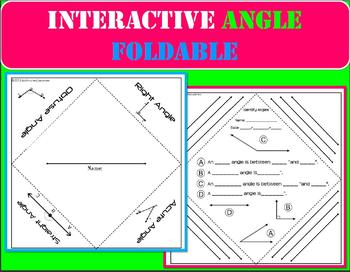 Interactive Notebook Angle Foldable Graphic Organizer