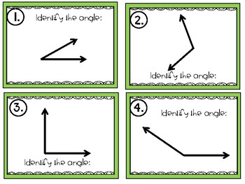 Angle Identification Task Cards