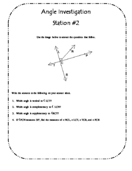 Angle Investigation Stations