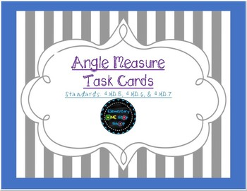 Angle Measure Task Cards