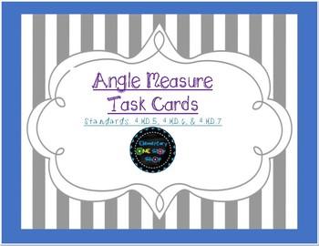 Angle Measure Task Cards