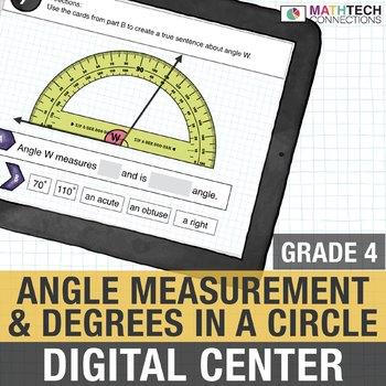 Angle Measurement - 4th Grade Interactive Math Center Google Slides