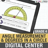 Angle Measurement - 4th Grade Google Classroom Math Center