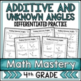 Additive Angles and Finding Unknown Angles Worksheets