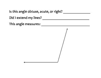 Angle Measurement Practice Packet
