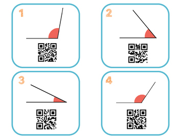 Angle Measurement QR Codes 4.MD.6