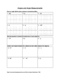 Angle Measurement Review Worksheet