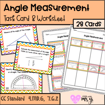 Angle Measurement Task Cards