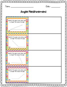Angle Measurement Task Cards