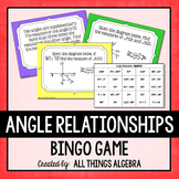 Angle Relationships (Vertical, Complementary, Supplementary, Linear Pair) Bingo
