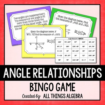 Angle Relationships (Vertical, Complementary, Supplementar