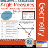 Angle Measures: Parallel Cut By Transversal Interactive Slides