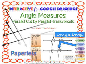 Angle Measures Parallel Cut by Parallel Transversals INTERACTIVE Google