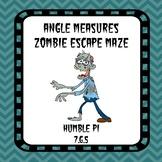 Angle Measures Zombie Escape Maze- 7.G.5