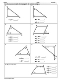 Angle Measures in Triangles and Quadrilaterals Worksheet