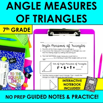 Angle Measures of Triangles Notes